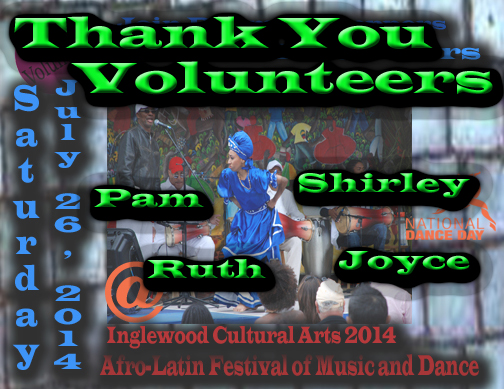 Volunteer At Afro Cuban Festival small thank you copy