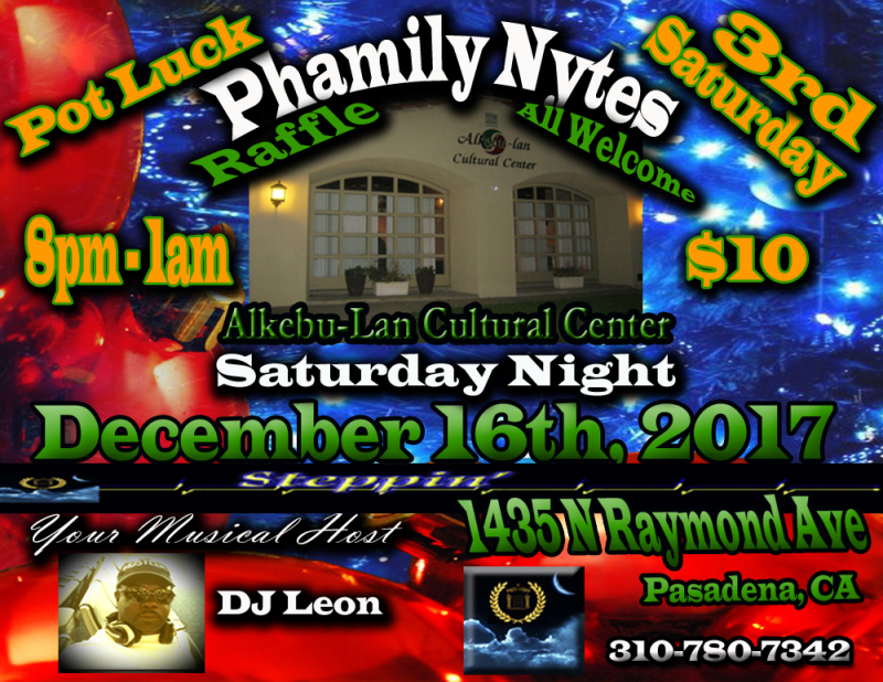 Phamily Nytes - December 2017 Leon Only