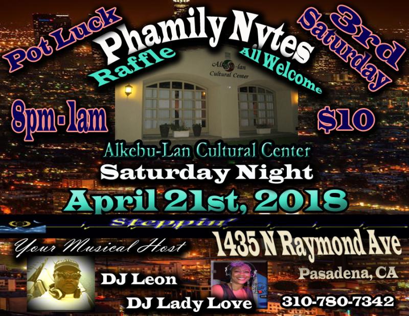 Phamily Nytes - April 2018 Leon & Lady Love copy