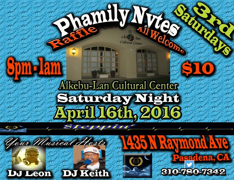 Phamily Nytes Welcome  - April 2016 copy