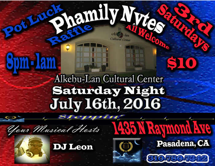 Phamily Nytes - July 2016 Leon Only small