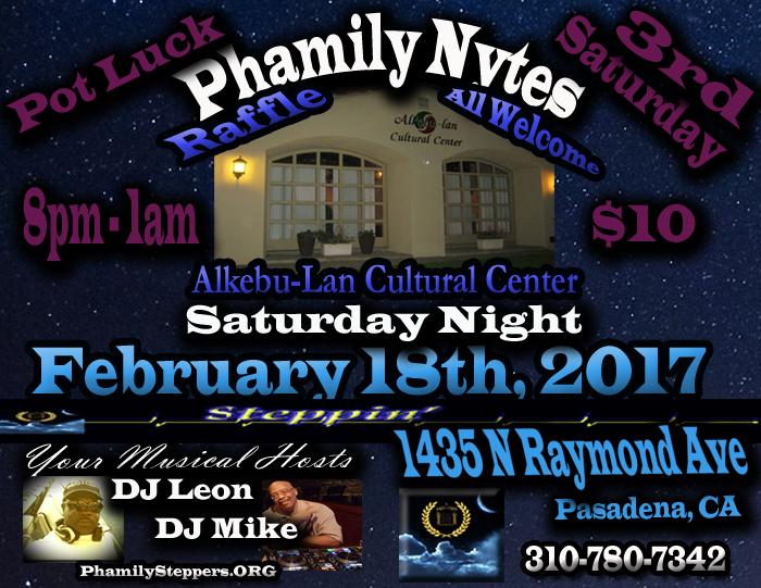 Phamily Nytes - February 2017 Leon & Mike